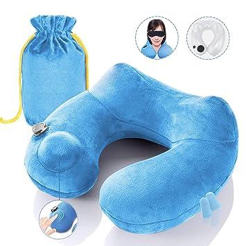 Amazon.com: Ayasoon Almohada de viaje inflable para el ...