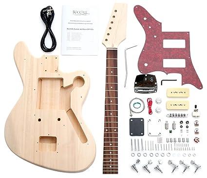 Rocktile 38312 - Kit de montaje para guitarra eléctrica estilo JAG