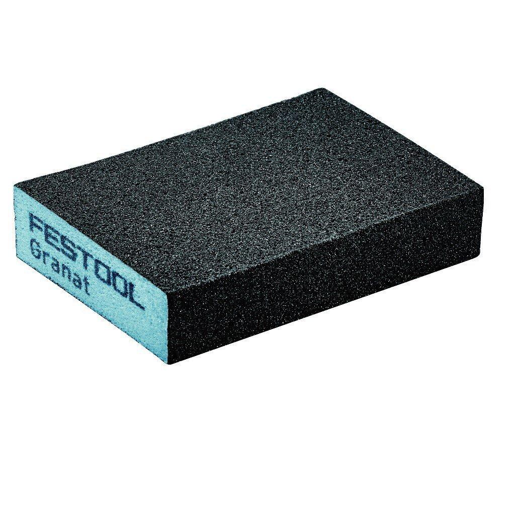 Festool 201802 Abrasive Sponge Granat 69 x 98 x 26, Pack of 6 (120 Grit)