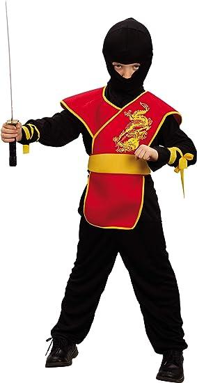 Desconocido Disfraz rojo de ninja para niño: Amazon.es: Juguetes y ...