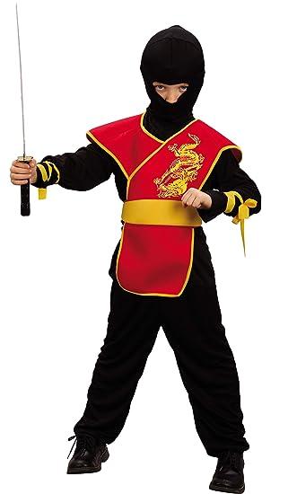 Disfraz rojo de ninja para niño: Amazon.es: Juguetes y juegos