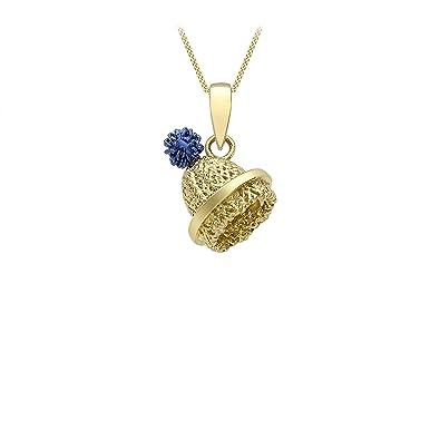 Carissima Gold 9 ct Yellow Gold Diamond Cut Curb Chain of 46 cm/18 inch EFUsg6DDgJ