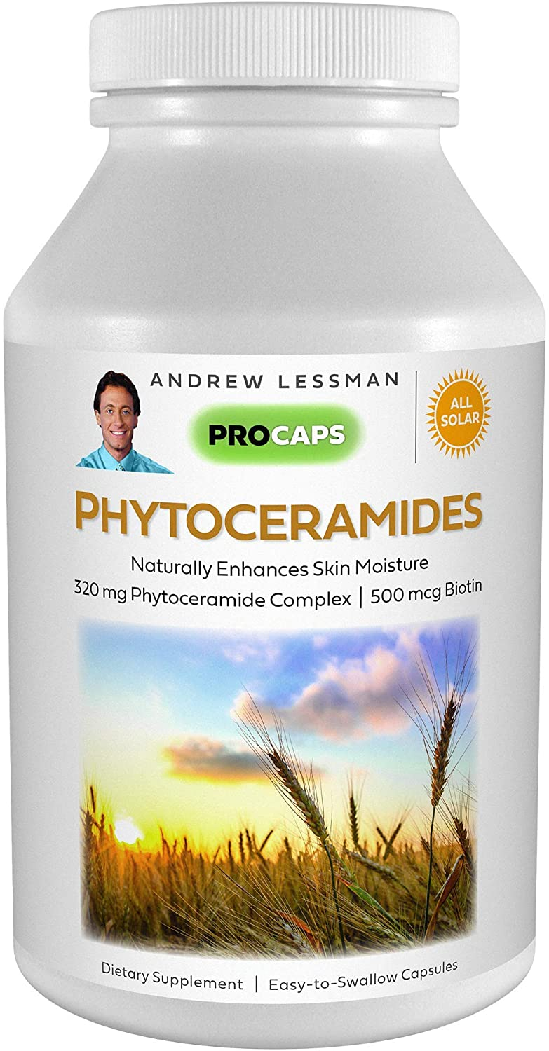 Andrew Lessman Phytoceramides with Biotin 30 Softgels – Skin's Vital Natural Internal Moisturizer. Naturally Enhances Soft, Smooth, Radiant Skin. No Additives. Small Easy to Swallow Softgels