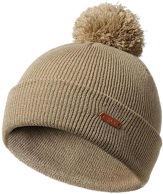 Men women soft stretchable pompom BEANIE ski snowboard skull hat cap 6 colors