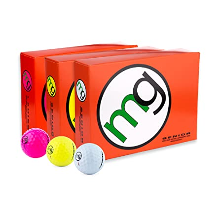 MG Golf Balls Senior Longest with Speed, Distance, Maximum Enjoyment 1-Dozen