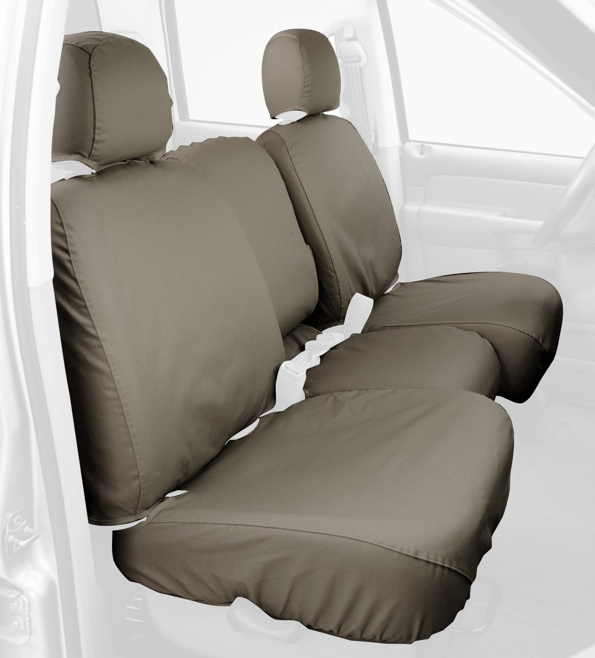 Polycotton Fabric Covercraft SS3381PCCT Custom-Fit Front Bench SeatSaver Seat Covers Misty Grey