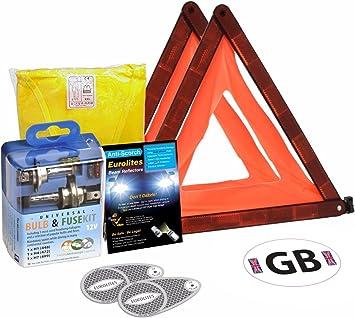 Reino Unido a España Kit de conducción estándar – Kit de viaje de coche: Amazon.es: Coche y moto
