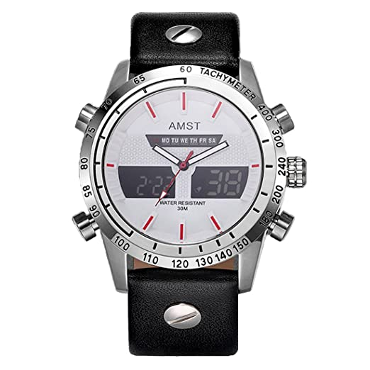 Mens impermeable Deporte Militar reloj Digital multifuncional Casual analógico reloj Led para los niños, todo
