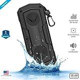 ZAAP ® Hydra Xtreme Premium waterproof/ Shockproof Bluetooth speaker With Built-In Microphone, (Black) UNIVERSAL COMPATIBILITY