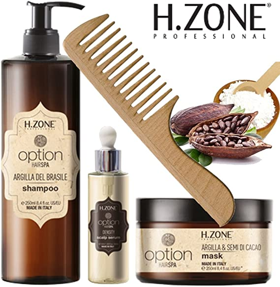 Kit Option Hair Spa Shampoo/Máscara/Serum y peine de ...