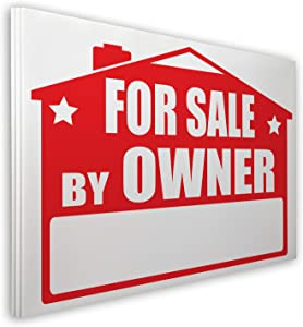 Visibility Signage For Sale By Owner Lawn Sign Kit with Giant Arrow Stickers (3)