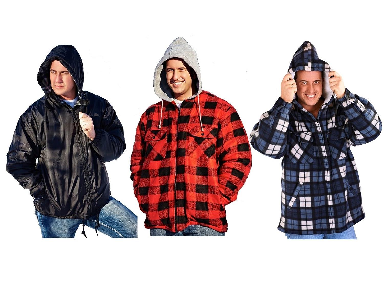 O Neill Men S Check Lumberjack Style Winter Jacket Coat Size L Mega