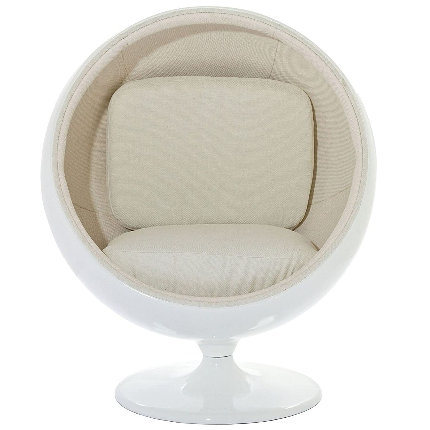 lexmod eero aarnio style ball chair in white amazonca home u0026 kitchen