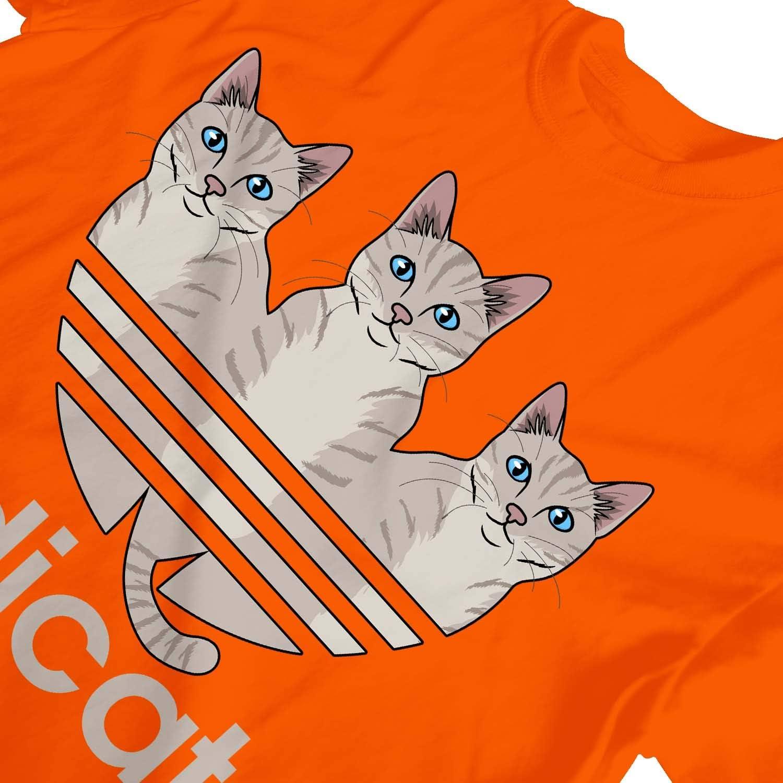 1Tee Girls ADICATS Spoof Cats Sweatshirt Jumper