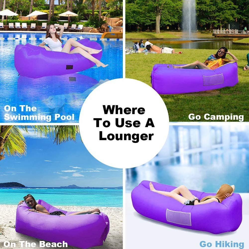 Piscina hinchable de playa almohada con cámaras de 3 colores diferentes-nuevo