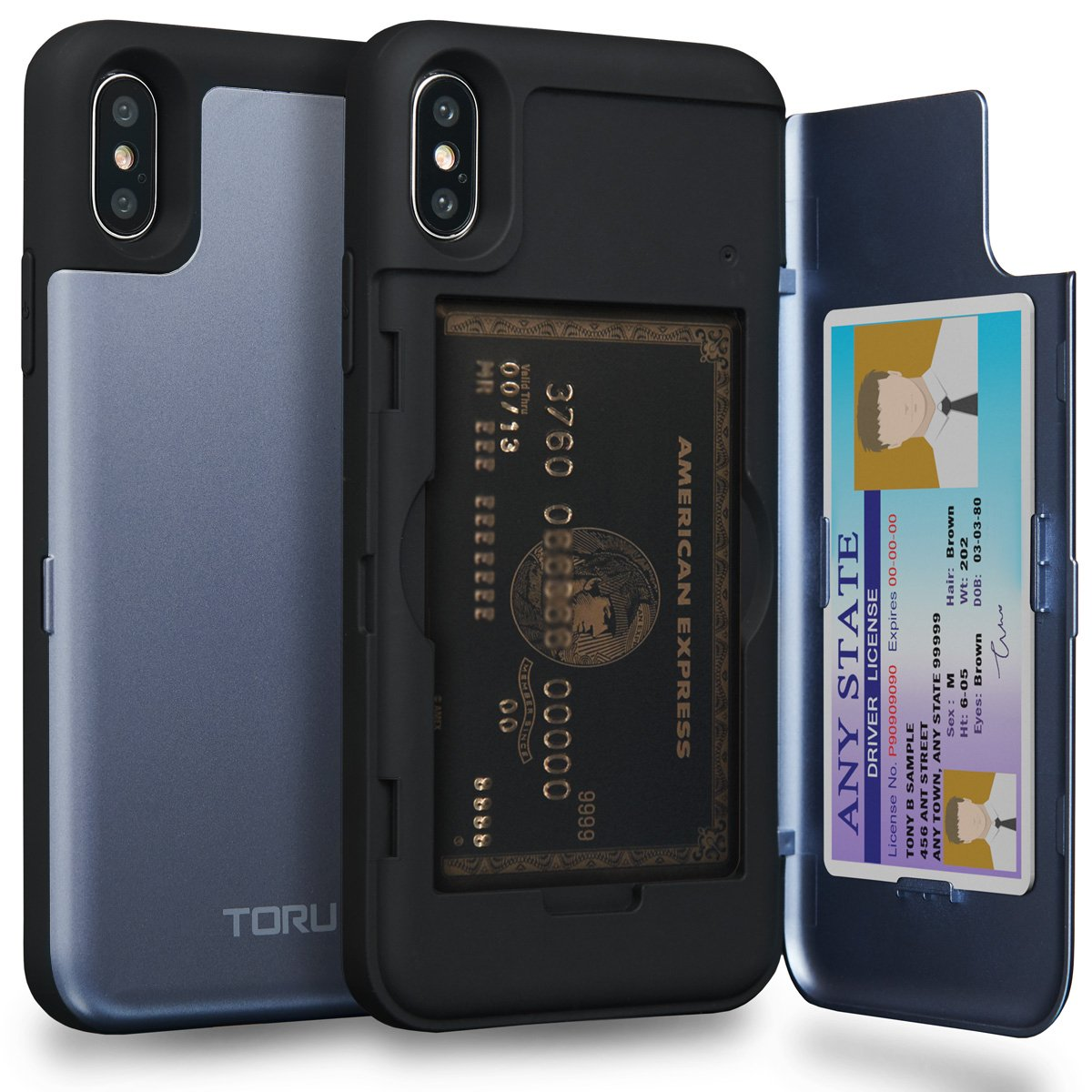 TORU CX PRO iPhone XS Wallet Case Pattern with Hidden ID Slot Credit Card Holder Hard Cover & Mirror for Apple iPhone XS (2018) / iPhone X (2017) - Black Marble iMODE Korea Inc 11XTCXP-MB