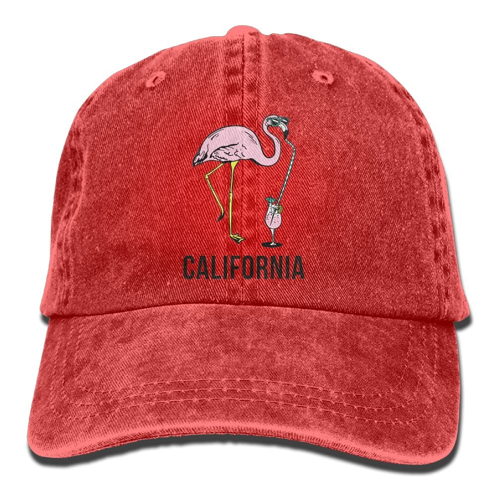 GqutiyulU California Flamingo Adult Cowboy Hat Red