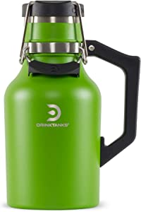 NEW DrinkTanks 32 oz Vacuum Insulated Stainless Steel Beer Growler