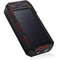POWERADD Apollo 26800mAh Dual USB Tragbare Solar Ladegerät, Solar Powerbank mit 2 inputs, Dual LED Leuchte, Zigarettenanzünder für Partys und Outdoor-Aktivitäten