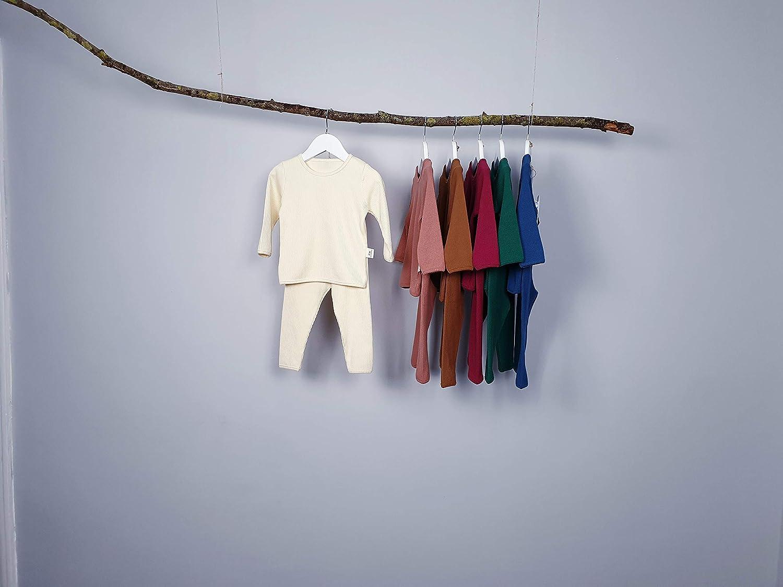 6M-7Y Baby Kids Pyjamas Unisex Girls Pjs /& Boys Soft Comfy Cotton Elastic Ribbed Loungewear Lounge suit Sleepwear 2pcs Set Clothes Snug Fit Plain Dyed Solid Color Outfit Tracksuit