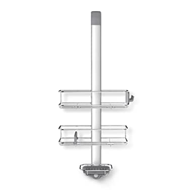 simplehuman Stainless Steel and Anodized Aluminum Over Over Door Shower Caddy