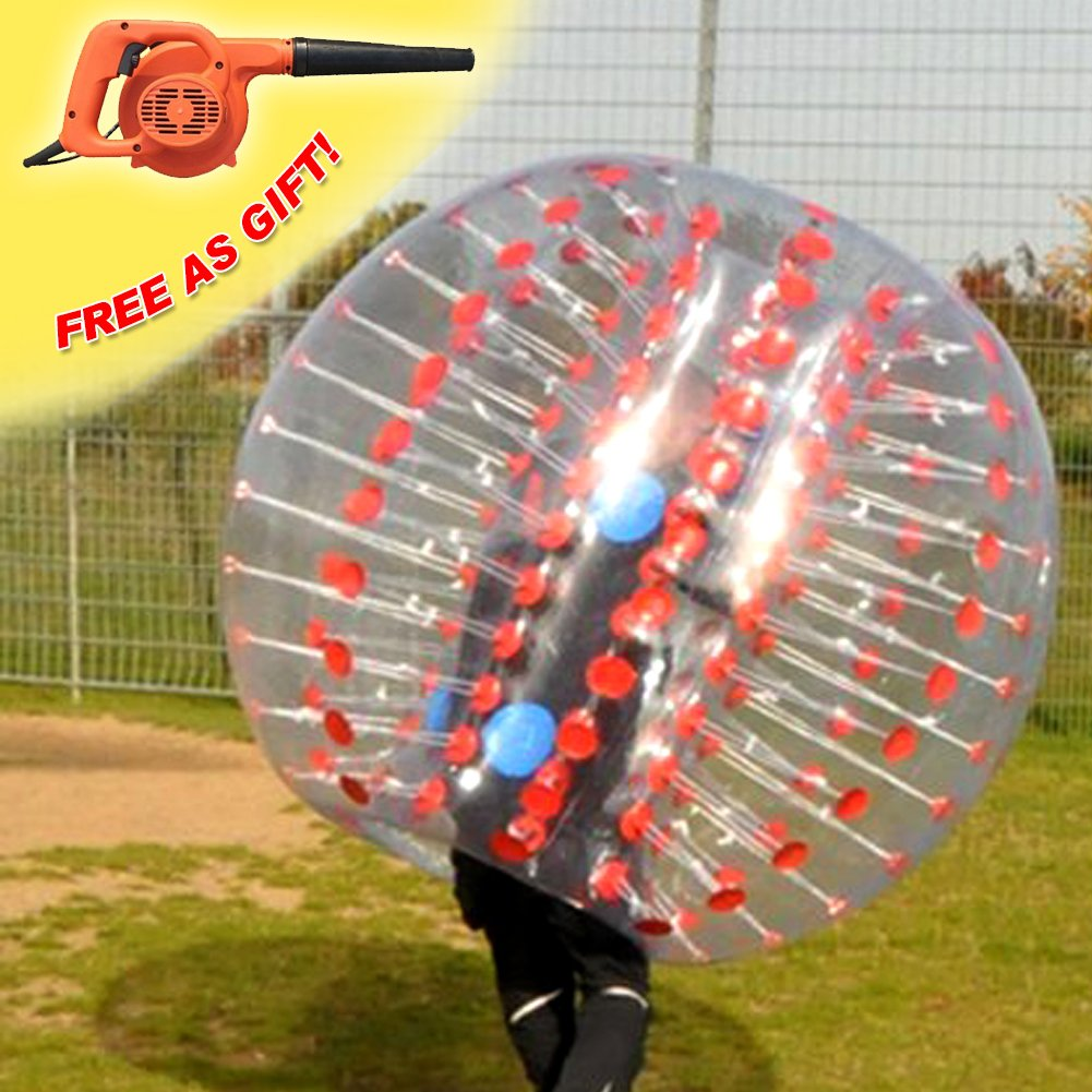 RACPLUS 1.5M/4.9FT Human KnockerBall inflatable Bumper Bubble Soccer Zorb Ball for Adult(With 1 FREE Air Pump) by RACPLUS