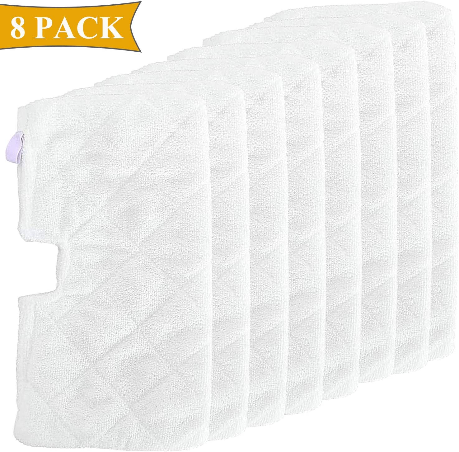 FFsign 8 Pack Replacement Cleaning Microfiber Steam Mop Pads for Shark Steam Pocket Mop S3500 Series S3501 S3550 S3601 S3601D S3801 S3801CO S3901 SE450 S2902