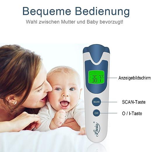 Smart Thermometer for Fieber Ohr Kinder und Erwachsene 3-Modus-Digitalthermometer und Stirnthermometer for Babys