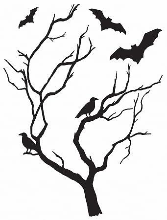 amazon com wall pops dwpk2249 spooky tree large wall art kit black