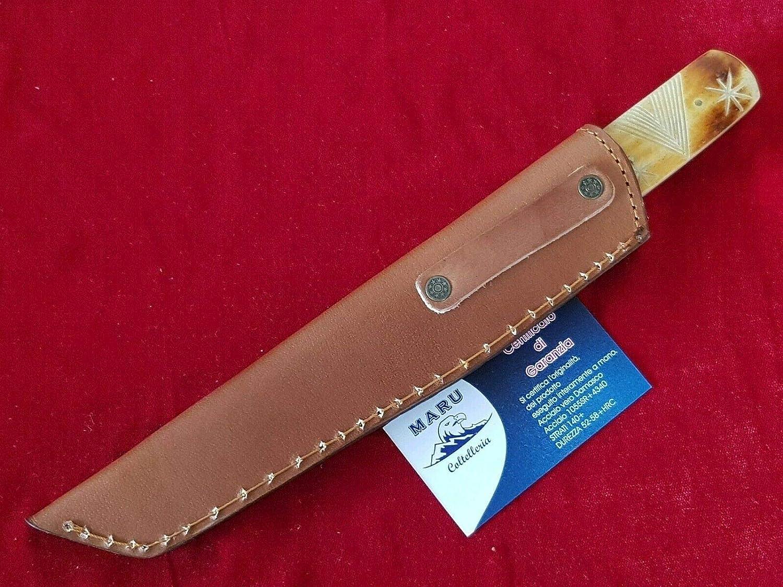 Coltello Giapponese Tantom Nami vg-10 /& Damasco /& Coltello Damascato /& Outdoor con Lama da 120 mm DELLINGER