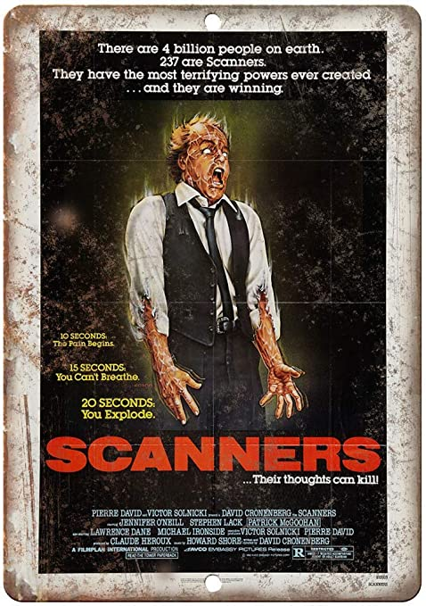 Scanners Movie Placa Cartel Vintage Estaño Signo Metal De ...