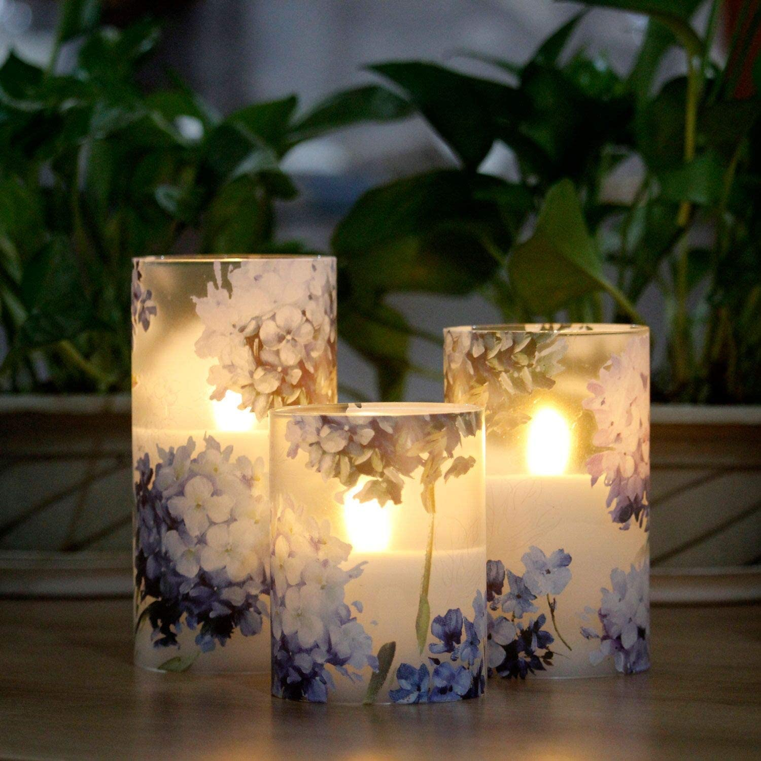 LED Flameless Candles Flickering with Timer, 4