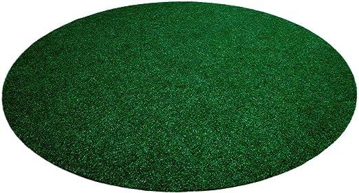 Snapstyle Kingston - Alfombra de césped Artificial Redonda - para Jardín, Terraza, Balcón - Verde Mixto - 13 tamaños: Amazon.es: Jardín