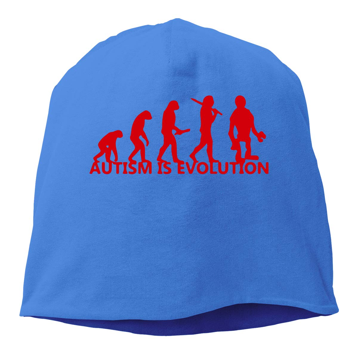 TLPM9LKMBM Autism is Evolution-2 Beanie Skull Cap for Women and Men Winter Warm Knit Hat
