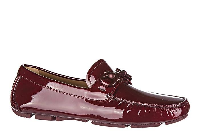 68dbf574dd6 Salvatore Ferragamo Mocasines en Piel Mujer Nuevo Parigi Bordeaux EU 38  034453 646604  Amazon.es  Zapatos y complementos