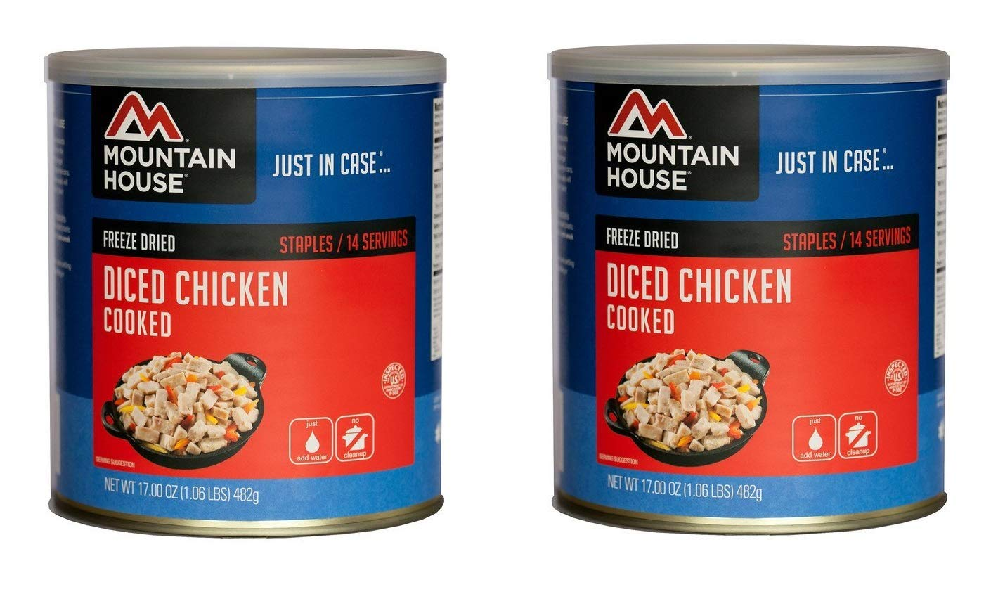 Mountain House Cooked Diced Chicken #10 Can (2 CANS)