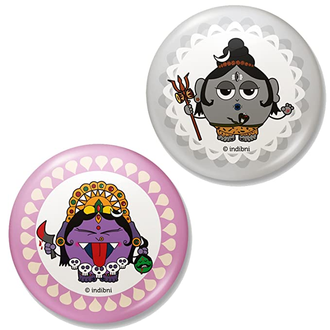 Shiva and Kali Fridge Magnets Home Kitchen Décor Magnets Pair Set of 2 Magnets (Home & Kitchen) at amazon