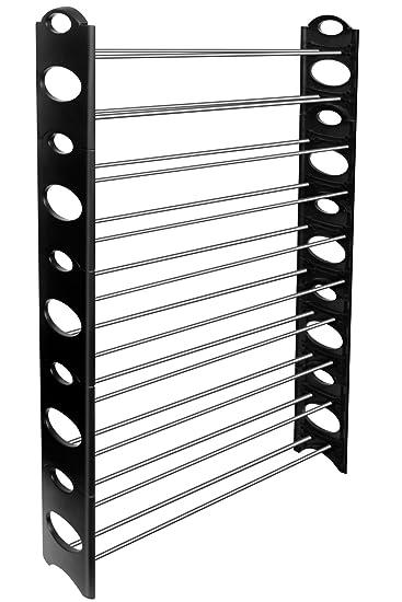 Captivating OxGord 50 Pair Shoe Rack Storage Organizer, 10 Tier Portable Wardrobe  Closet Bench Design Inspirations