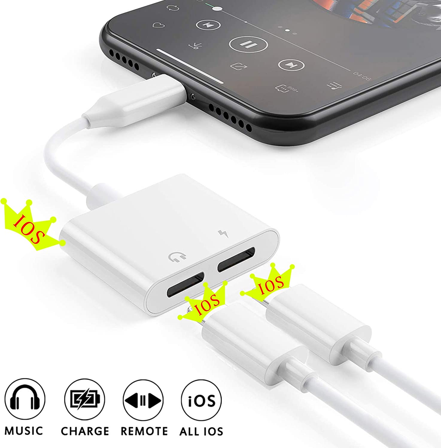 splitter ligtning para iphone ipad ios 13