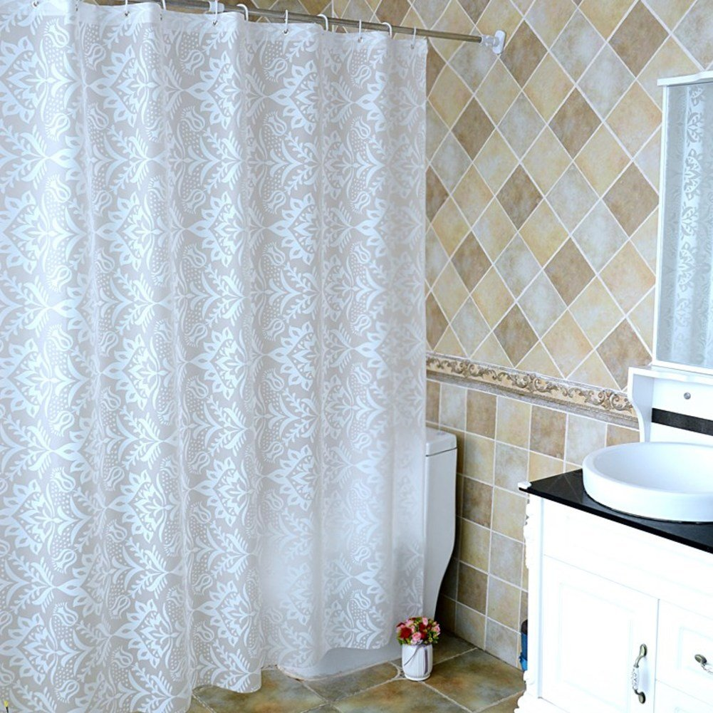 Palace Wind Hotel Shower Curtain Waterproof Damp Room Hanging Window Shade Door B 120x180cm47x71inch
