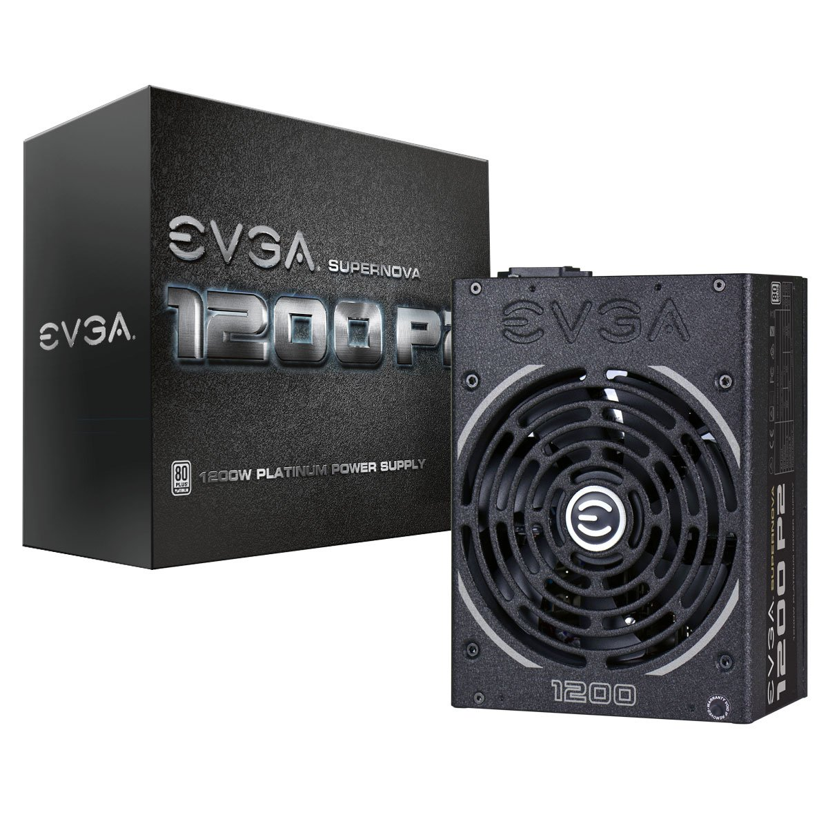 EVGA SuperNOVA 1200 P2 80+ PLATINUM, 1200W ECO Mode Fully Modular NVIDIA SLI and Crossfire Ready 10 Year Warranty Power Supply 220-P2-1200-X1 by EVGA