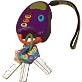 B. toys – FunKeys Toy – Funky Toy Keys for Toddlers and Babies – Toy Car Keys on a Keychain with Light and Sounds –100% Non-Toxic and BPA-Free