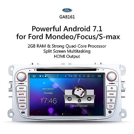Eonon Android 7.1 Ford Mondeo Focus S-Max coche de DAB+ WiFi GA8161: Amazon.es: Electrónica