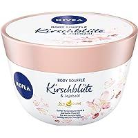 Nivea Body Soufflé Fuktgivande Kroppskräm med Körsbärsblommor och Jojobaolja, 200 ml