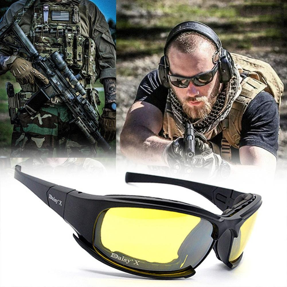 OVERMAL 4 Lens Kit Army Goggles Military Sunglasses Men's Outdoor Sports War Game Tactical Glasses by OVERMAL (Image #1)