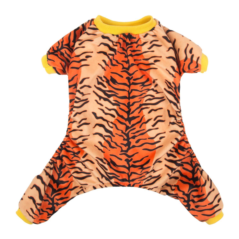 Tiger S Tiger S CuteBone Dog Pajamas Tiger Dog Apparel Dog Jumpsuit Pet Clothes Pajamas Puppy Clothes P66S