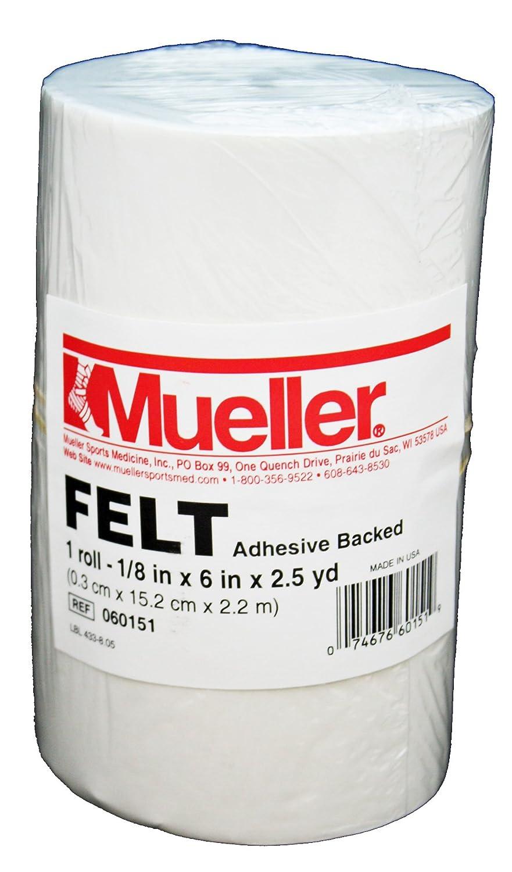 1//8 x 6 x 2.5 yd roll 060151 Adhesive backed Mueller Orthopedic Felt