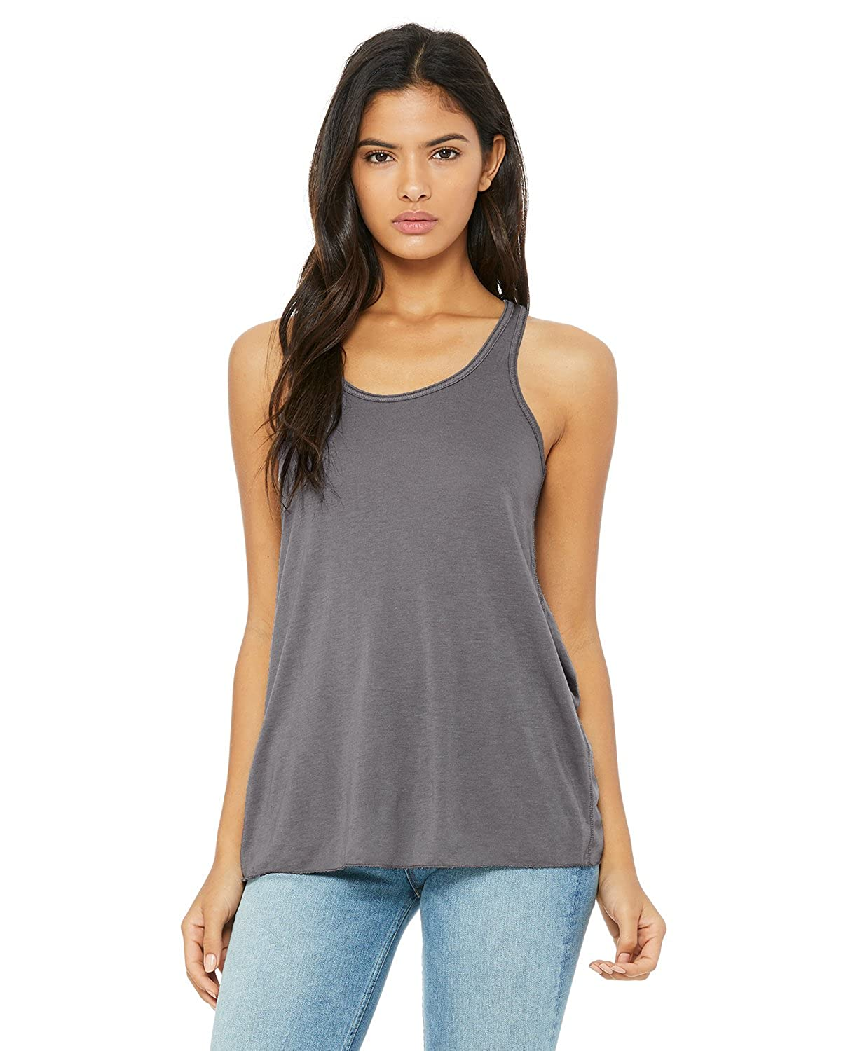 d1672d4ed2 Bella Ladies Flowy Racerback Tank at Amazon Women's Clothing store: