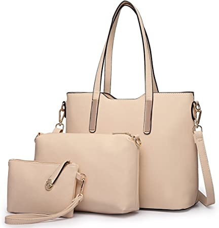 3 Pieces Handbag Set For Women Fashion Ladies Shoulder Bag Faux Leather Designer