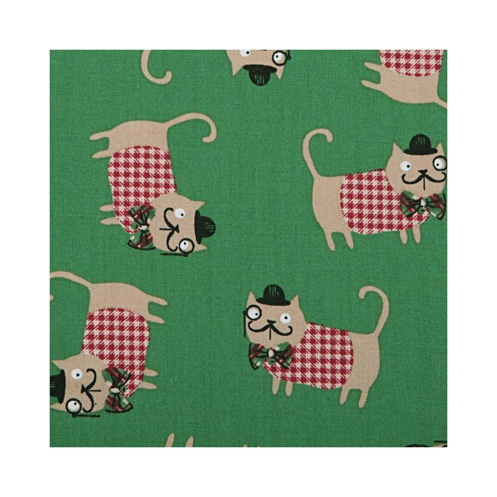 Stoff Baumwolle Hunde Detektiv X 50 cm – grün: Amazon.de: Küche ...